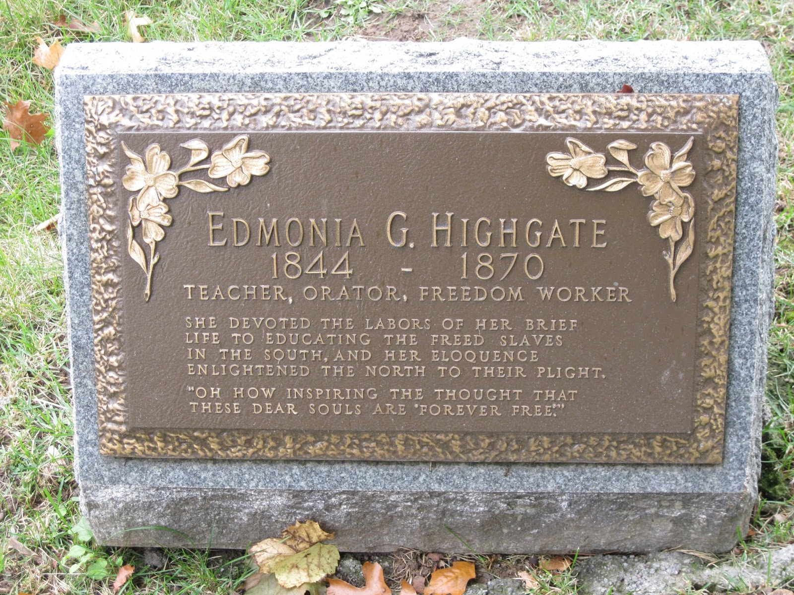 Edmonia Highgate: Teacher, Orator, Freedom Worker
